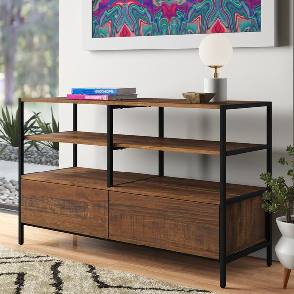 """Karmen Solid Wood Tv Stand For Tvs Up To 55 Inches Inside Allegra Tv Stands For Tvs Up To 50"""" (View 18 of 20)"""