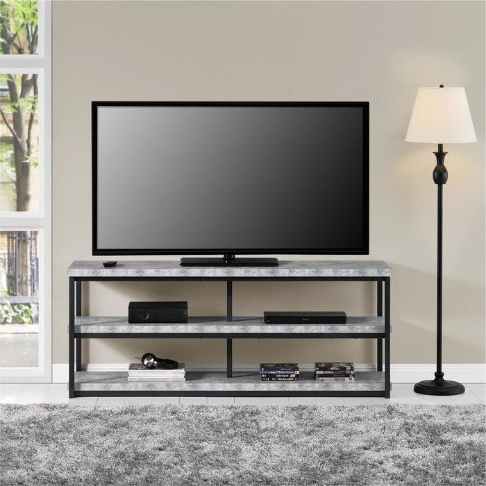 """Kenmore Tv Stand For Tvs Up To 65 Inches   Grey Room Throughout Jowers Tv Stands For Tvs Up To 65"""" (View 5 of 20)"""