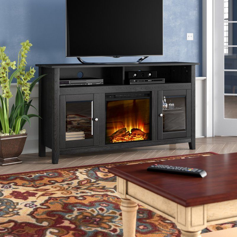 """Kohn Tv Stand For Tvs Up To 65"""" With Fireplace Included With Millen Tv Stands For Tvs Up To 60"""" (View 14 of 20)"""
