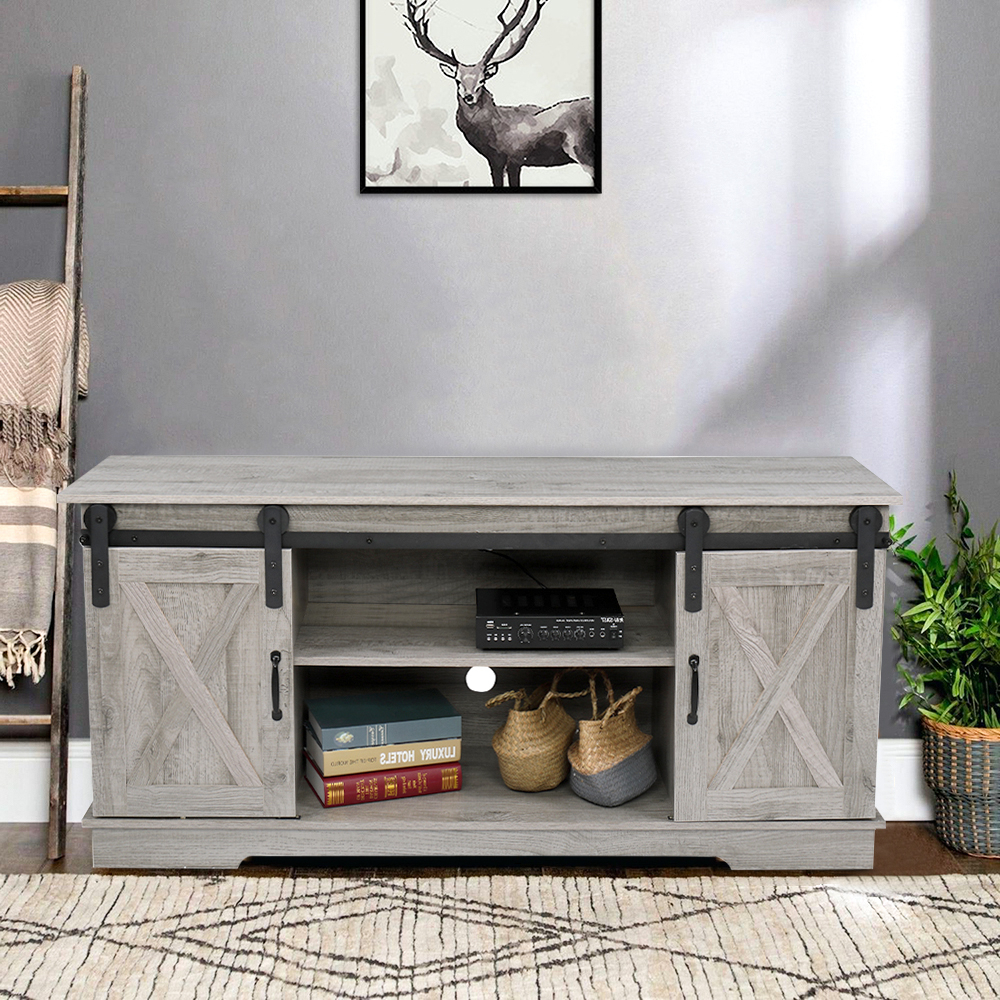 """Ktaxon 58"""" Farmhouse Tv Stand For Tvs Up To 60"""" With With Regard To Jaxpety 58"""" Farmhouse Sliding Barn Door Tv Stands (View 9 of 20)"""