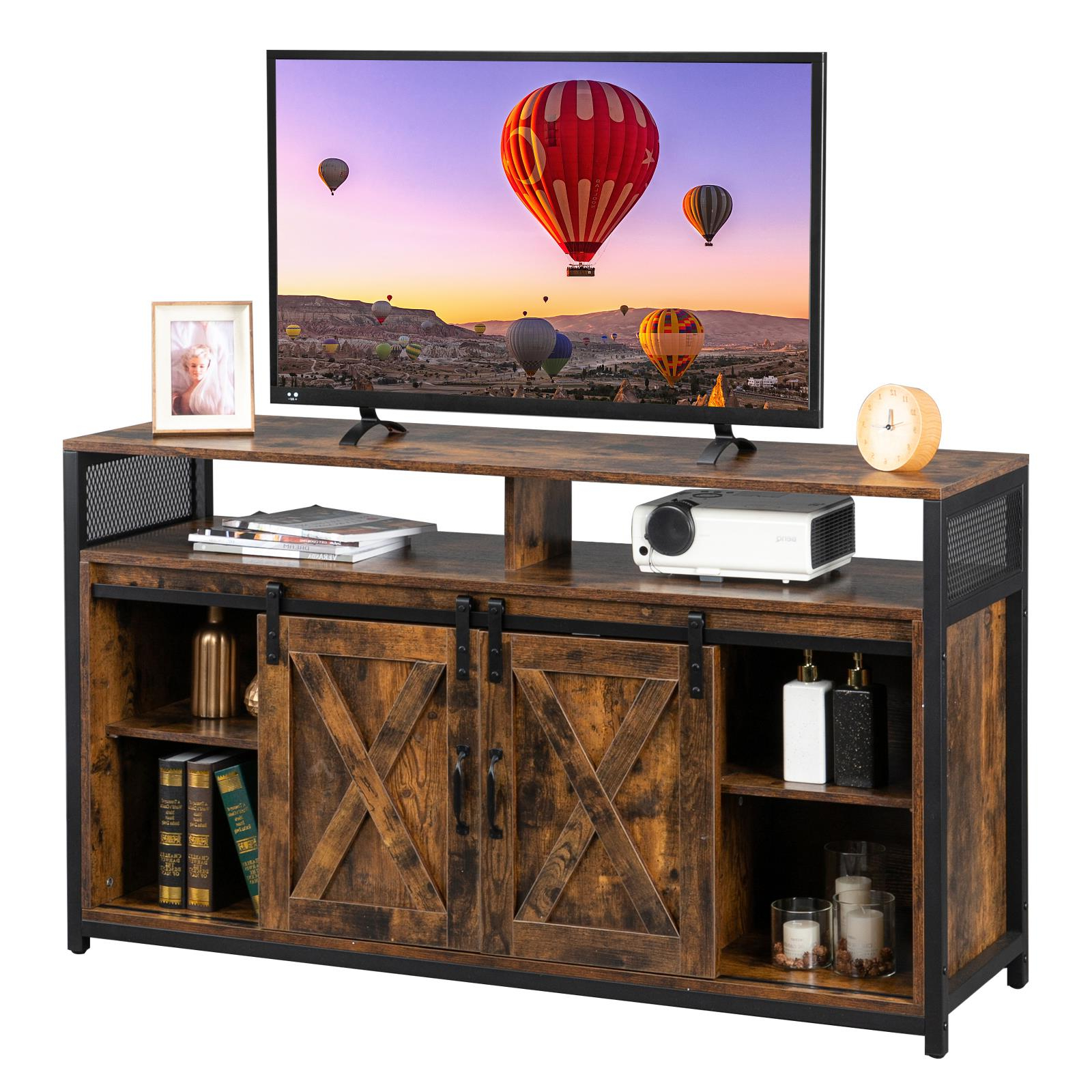 Ktaxon Tv Stand For 55 Inch Tv With Barn Doors,farmhouse With Avalene Rustic Farmhouse Corner Tv Stands (View 18 of 20)