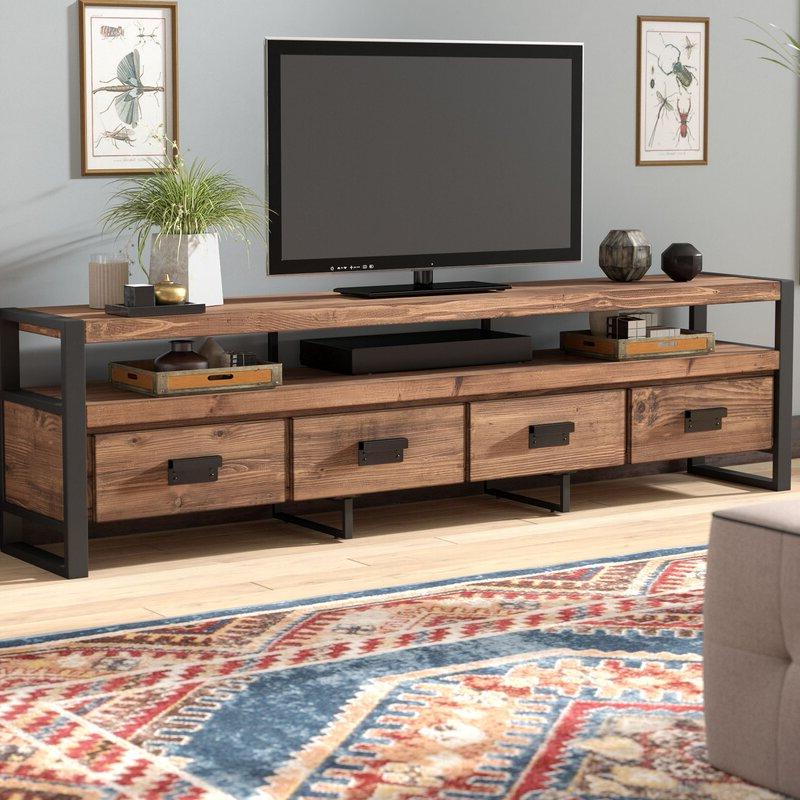 """Kylee Solid Wood Tv Stand For Tvs Up To 88 Inches Intended For Spellman Tv Stands For Tvs Up To 55"""" (View 18 of 20)"""