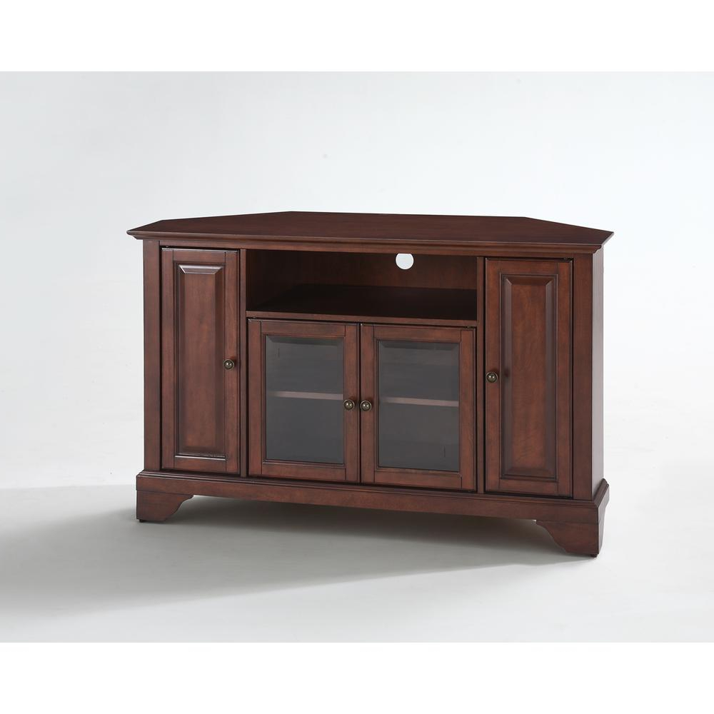 """Lafayette 48"""" Corner Tv Stand In Vintage Mahogany Finish Regarding Alexandria Corner Tv Stands For Tvs Up To 48"""" Mahogany (View 4 of 20)"""