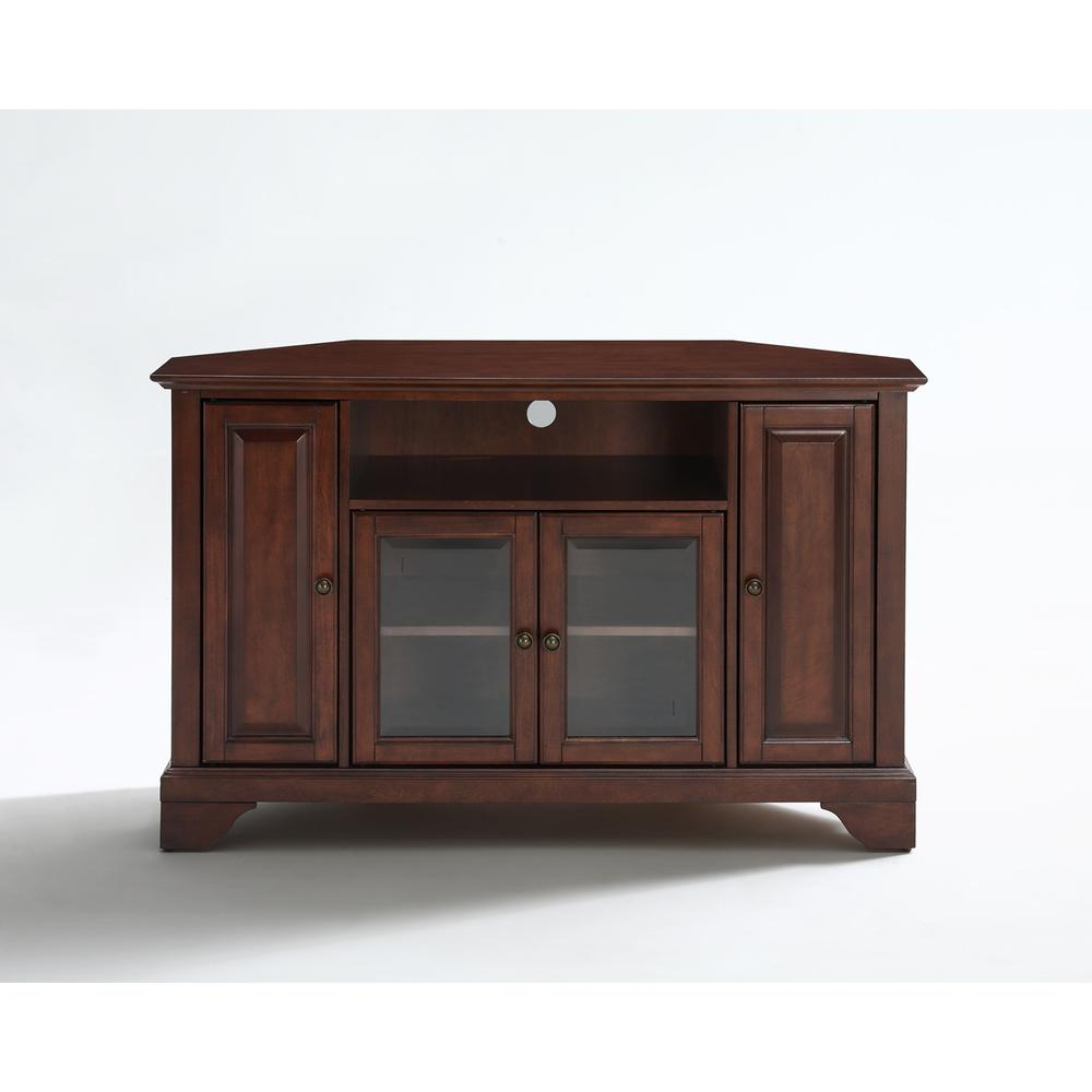 """Lafayette 48"""" Corner Tv Stand In Vintage Mahogany Finish With Regard To Alexandria Corner Tv Stands For Tvs Up To 48"""" Mahogany (View 3 of 20)"""
