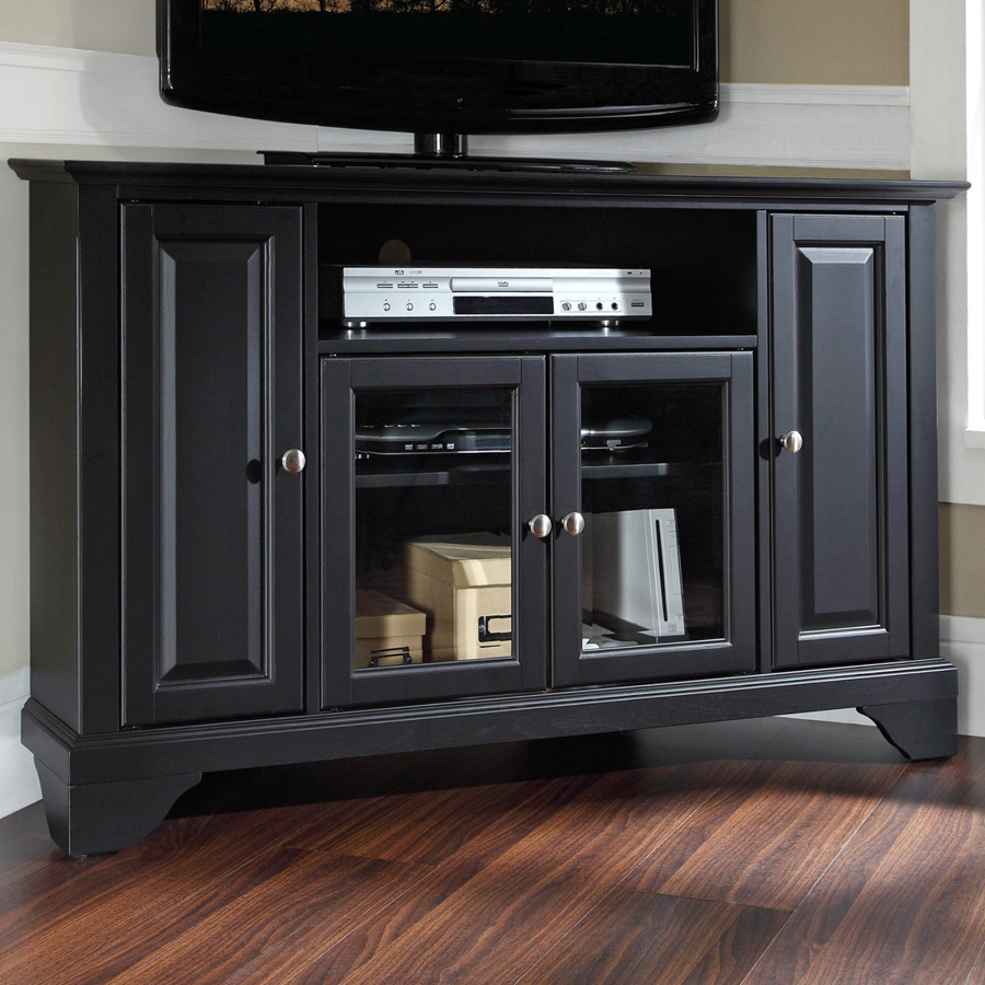 Lafayette Kf10006bbk Wood Corner Tv Stand With Bracket Within Corner Entertainment Tv Stands (View 10 of 20)
