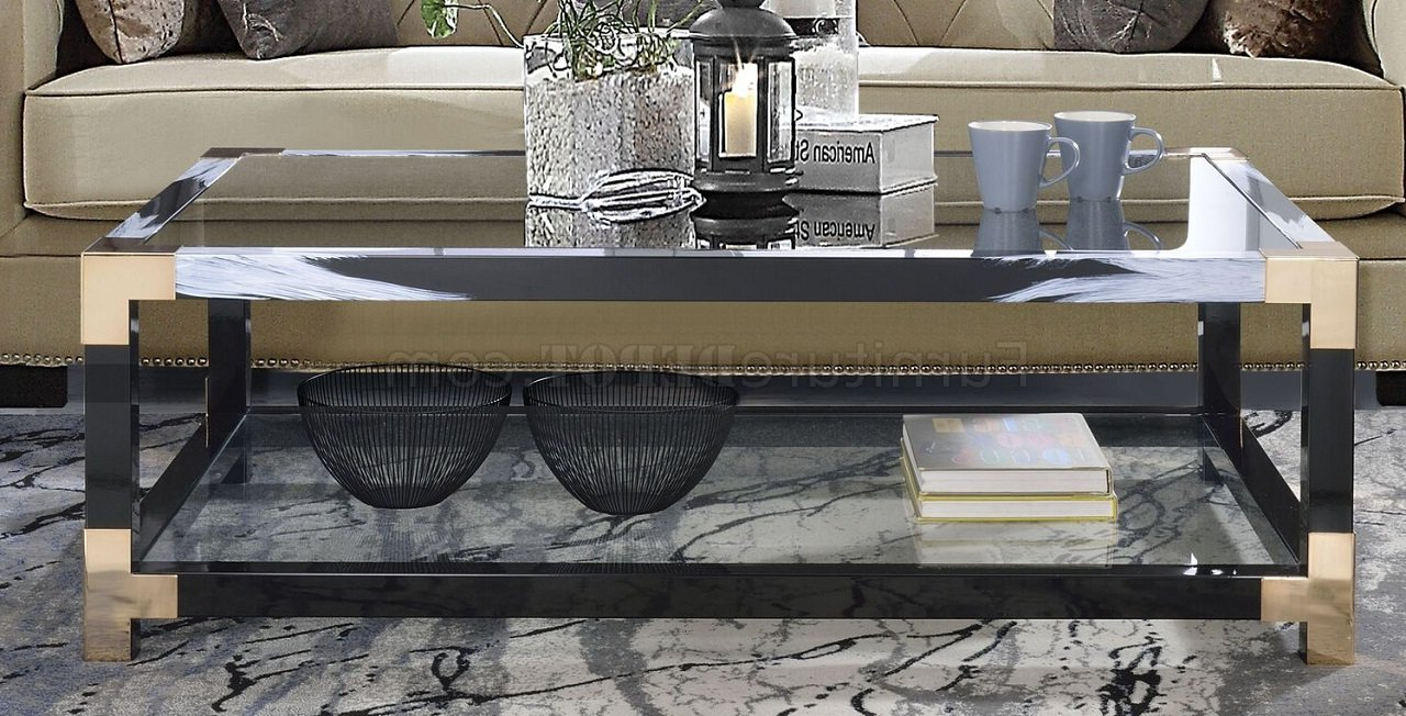 Lafty Coffee Table & 2 End Tables Set 81000 In Blackacme With Regard To Large Rolling Tv Stands On Wheels With Black Finish Metal Shelf (View 18 of 20)