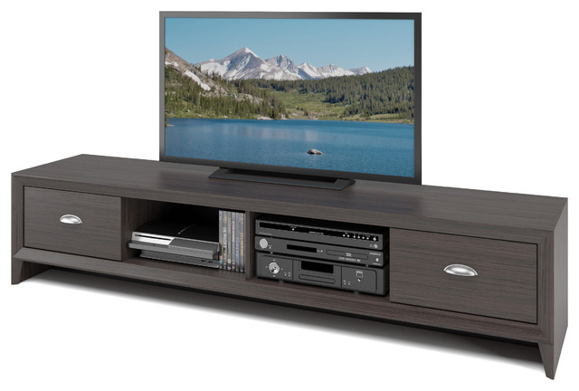 Lakewood Extra Wide Tv Bench, Modern Wenge Finish Regarding Jackson Wide Tv Stands (View 5 of 20)