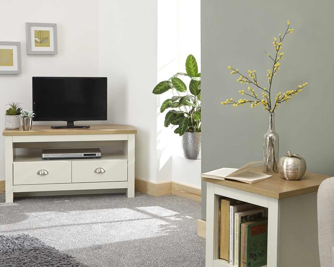 Lancaster Cream Corner Tv Unit – One Stop Furniture Online In Lancaster Large Tv Stands (View 7 of 20)