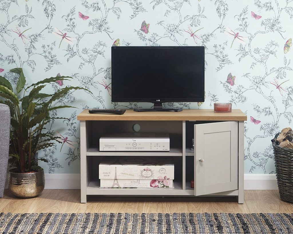 Lancaster Grey Small Tv Unit – One Stop Furniture Online Throughout Lancaster Small Tv Stands (View 2 of 20)