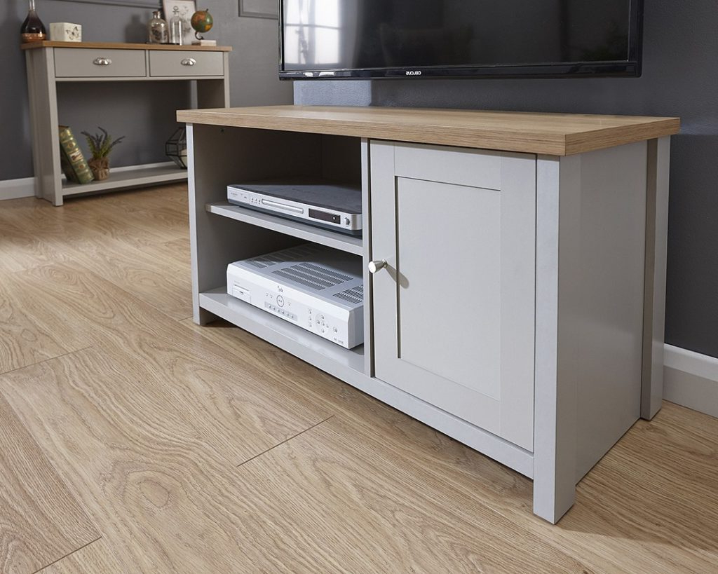 Lancaster Grey Small Tv Unit – One Stop Furniture Online Within Lancaster Small Tv Stands (View 5 of 20)