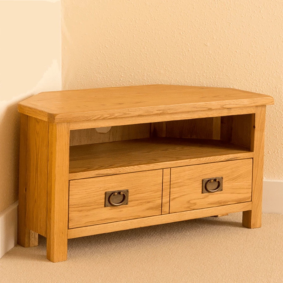 Lanner Oak Corner Tv Stand | Oak Corner Tv Stand, Tv Stand With Regard To Sidmouth Oak Corner Tv Stands (View 2 of 20)