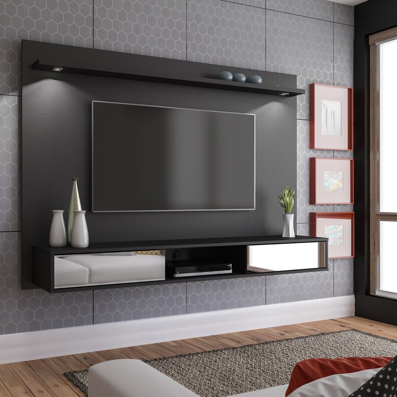 "Latitude Run® Arystan Floating Tv Stand For Tvs Up To 60 Pertaining To Hal Tv Stands For Tvs Up To 60"" (View 15 of 20)"