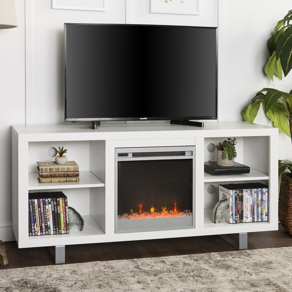 """Latitude Run® Depasquale Tv Stand For Tvs Up To 65"""" With Throughout Hetton Tv Stands For Tvs Up To 70"""" With Fireplace Included (View 4 of 20)"""