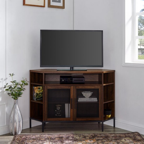 """Laurel Foundry Modern Farmhouse Dominick Corner Tv Stand For Camden Corner Tv Stands For Tvs Up To 50"""" (View 17 of 20)"""