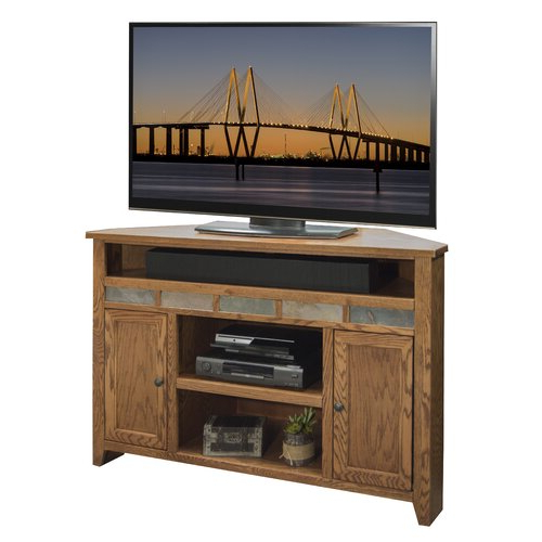 """Legends Furniture Oak Creek Solid Wood Corner Tv Stand For Throughout Camden Corner Tv Stands For Tvs Up To 60"""" (View 16 of 20)"""