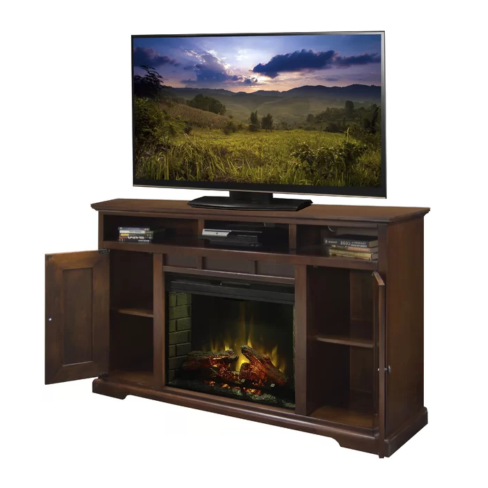 """Legrand Tv Stand For Tvs Up To 70"""" Electric With Fireplace Pertaining To Hetton Tv Stands For Tvs Up To 70"""" With Fireplace Included (View 8 of 20)"""