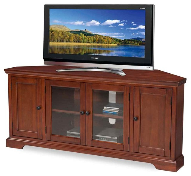 Leick Furniture – Corner Tv Stand With Shelves – View In With Regard To Zena Corner Tv Stands (View 9 of 20)