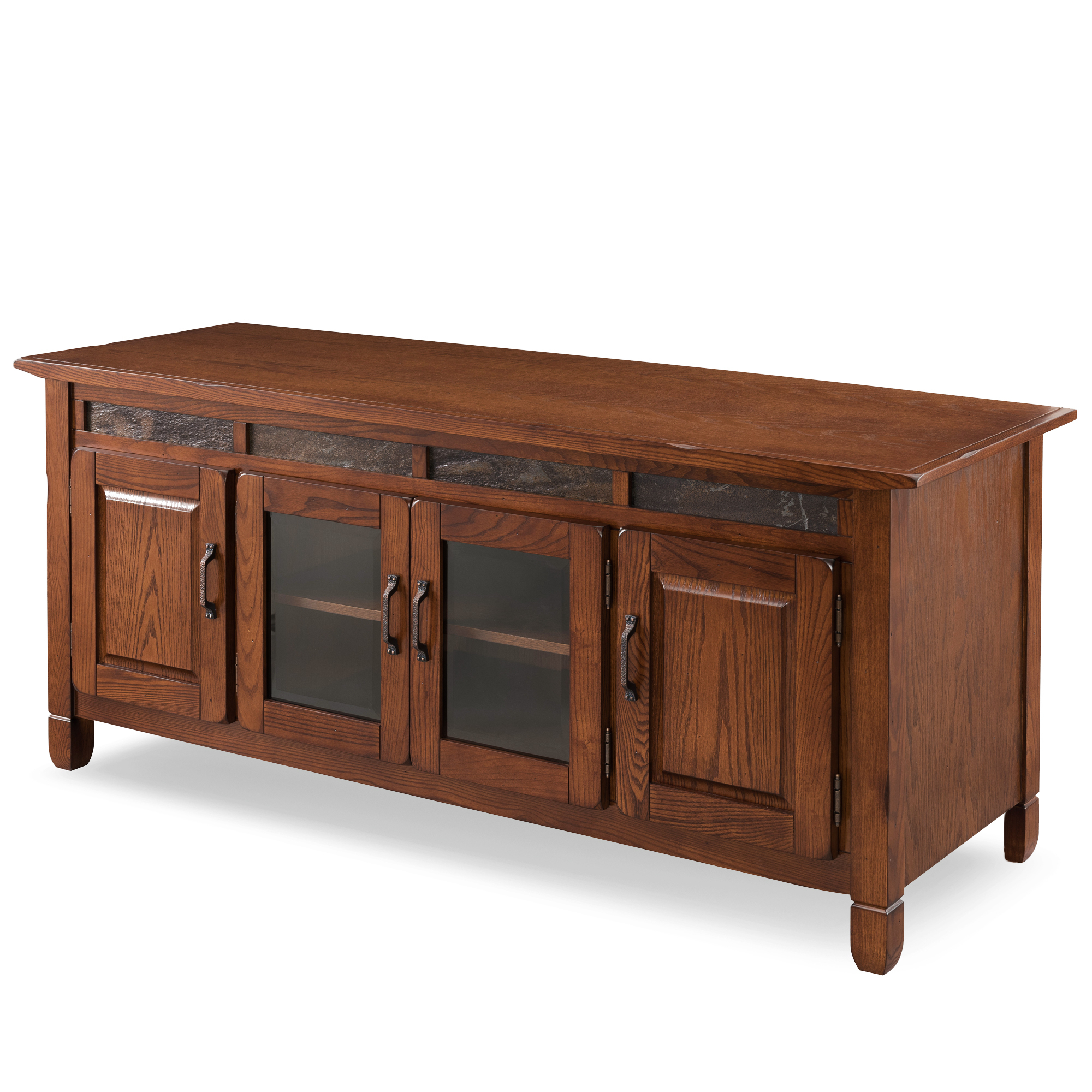 """Leick Home 60"""" Tv Stand With Slate Tiles For Tv's Up To 65 In Hal Tv Stands For Tvs Up To 60"""" (View 18 of 20)"""