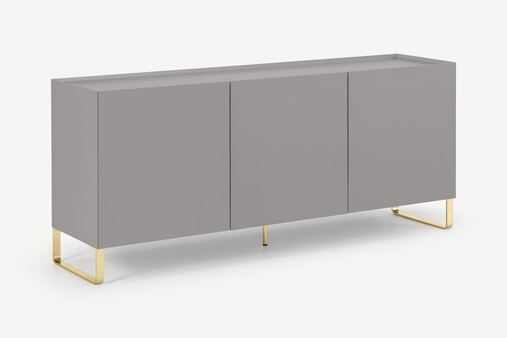 Lenny Painted Sideboard, Grey & Brass In 2021 | Painted For Hanna Oyster Corner Tv Stands (View 8 of 8)