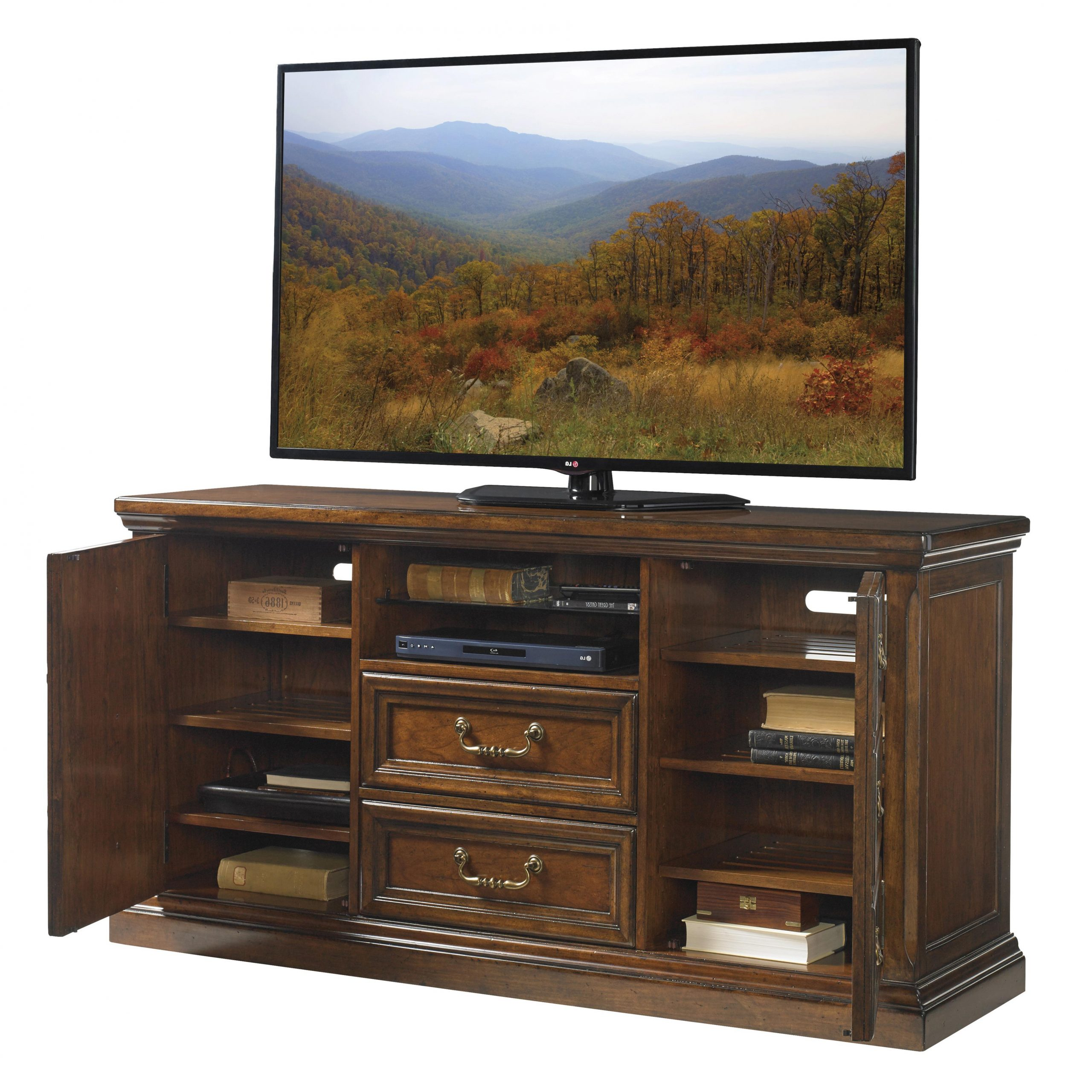 Lexington Coventry Hills Provincetown Media Console With Regarding Tv Stands With Cable Management (View 16 of 20)