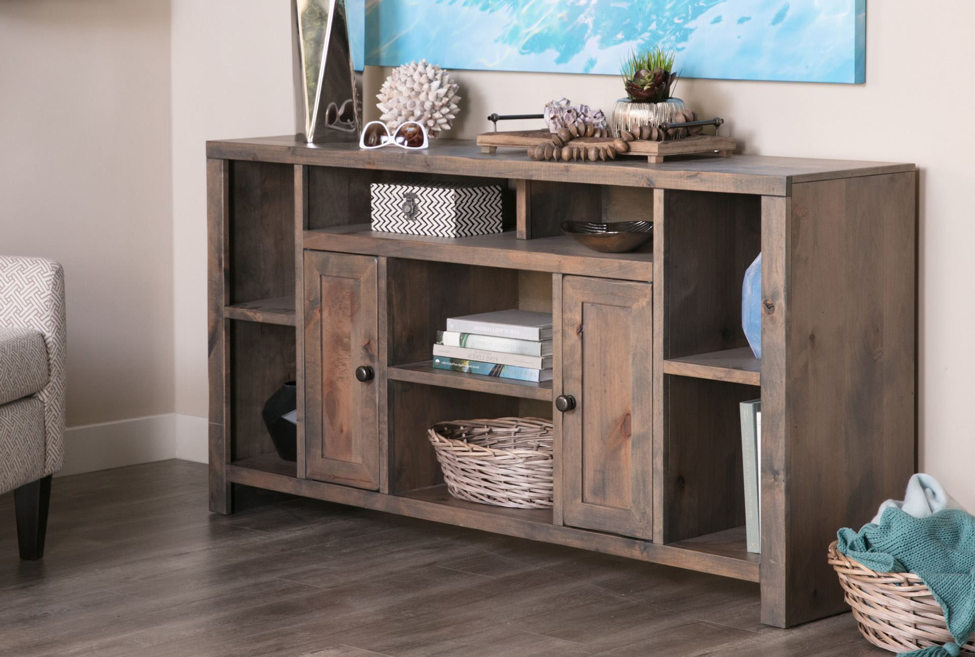 """Living Spaces – 84949 – Room   65 Inch Tv Stand, 65 Inch With Jowers Tv Stands For Tvs Up To 65"""" (View 16 of 20)"""