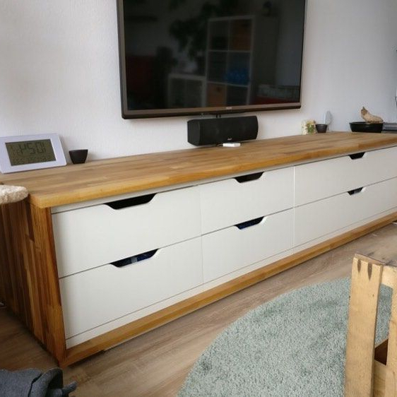 Long Tv Stand From Ikea Stolmen Drawers And Wood With Regard To Jule Tv Stands (View 16 of 20)