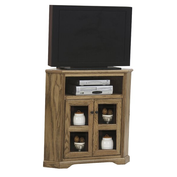 """Loon Peak® Glastonbury Solid Wood Corner Tv Stand For Tvs In Griffing Solid Wood Tv Stands For Tvs Up To 85"""" (View 15 of 20)"""