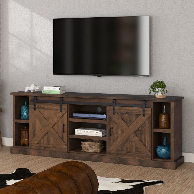 """Loon Peak® Pullman Tv Stand For Tvs Up To 88"""" & Reviews Within Gosnold Tv Stands For Tvs Up To 88"""" (View 4 of 20)"""