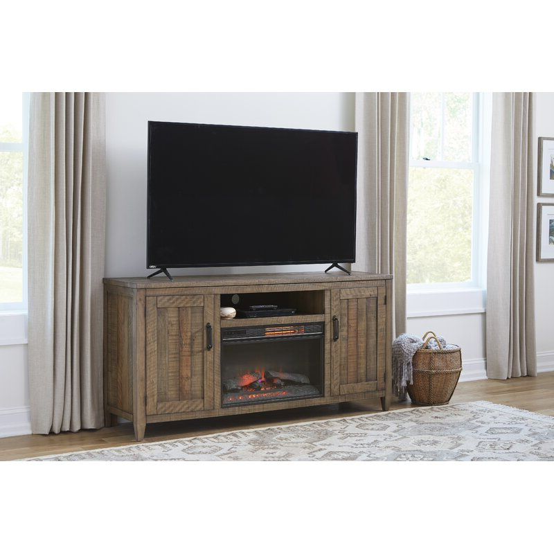 """Loon Peak® Tuten Tv Stand For Tvs Up To 70"""" With Fireplace Inside Hetton Tv Stands For Tvs Up To 70"""" With Fireplace Included (View 15 of 20)"""