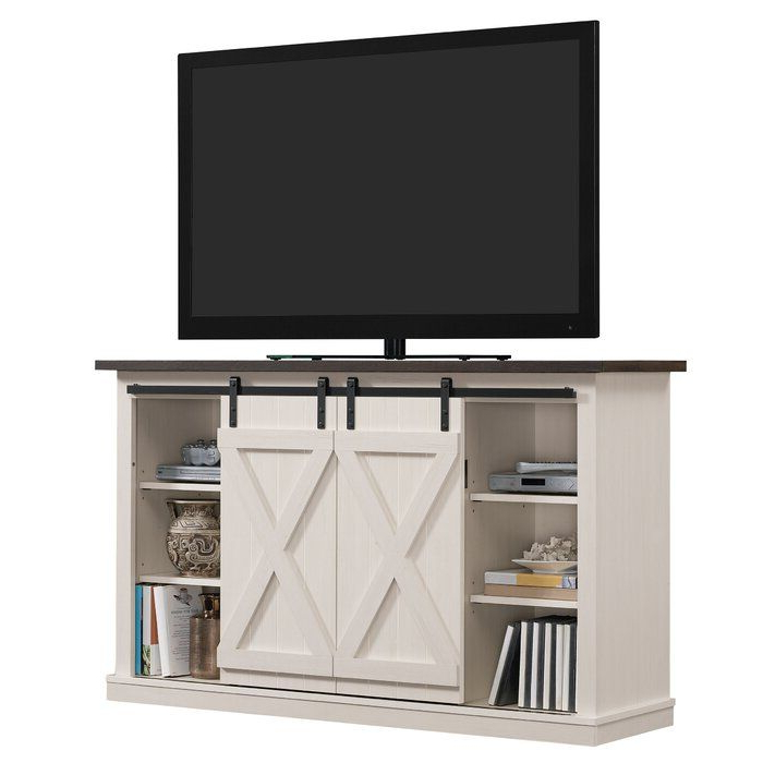 Lorraine Tv Stand For Tvs Up To 60 Inches & Reviews | Joss Throughout Woven Paths Farmhouse Sliding Barn Door Tv Stands With Multiple Finishes (View 5 of 14)