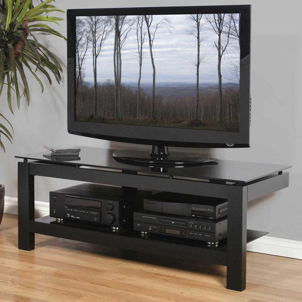 """Low Profile 50 Inch Tv Stand – Black In Tv Stands For Allegra Tv Stands For Tvs Up To 50"""" (View 7 of 20)"""