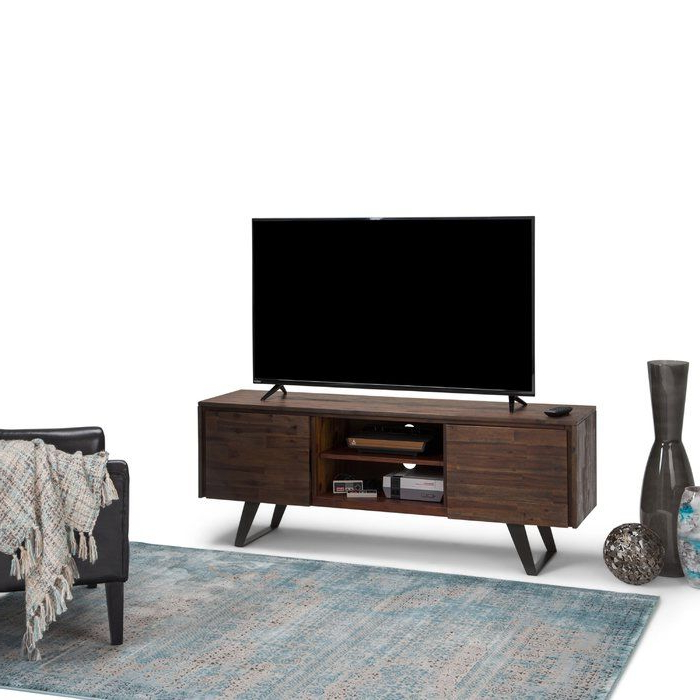 """Lowry Tv Stand For Tvs Up To 70""""   Tv Media Stands, Simpli With Bromley Oak Corner Tv Stands (View 10 of 20)"""