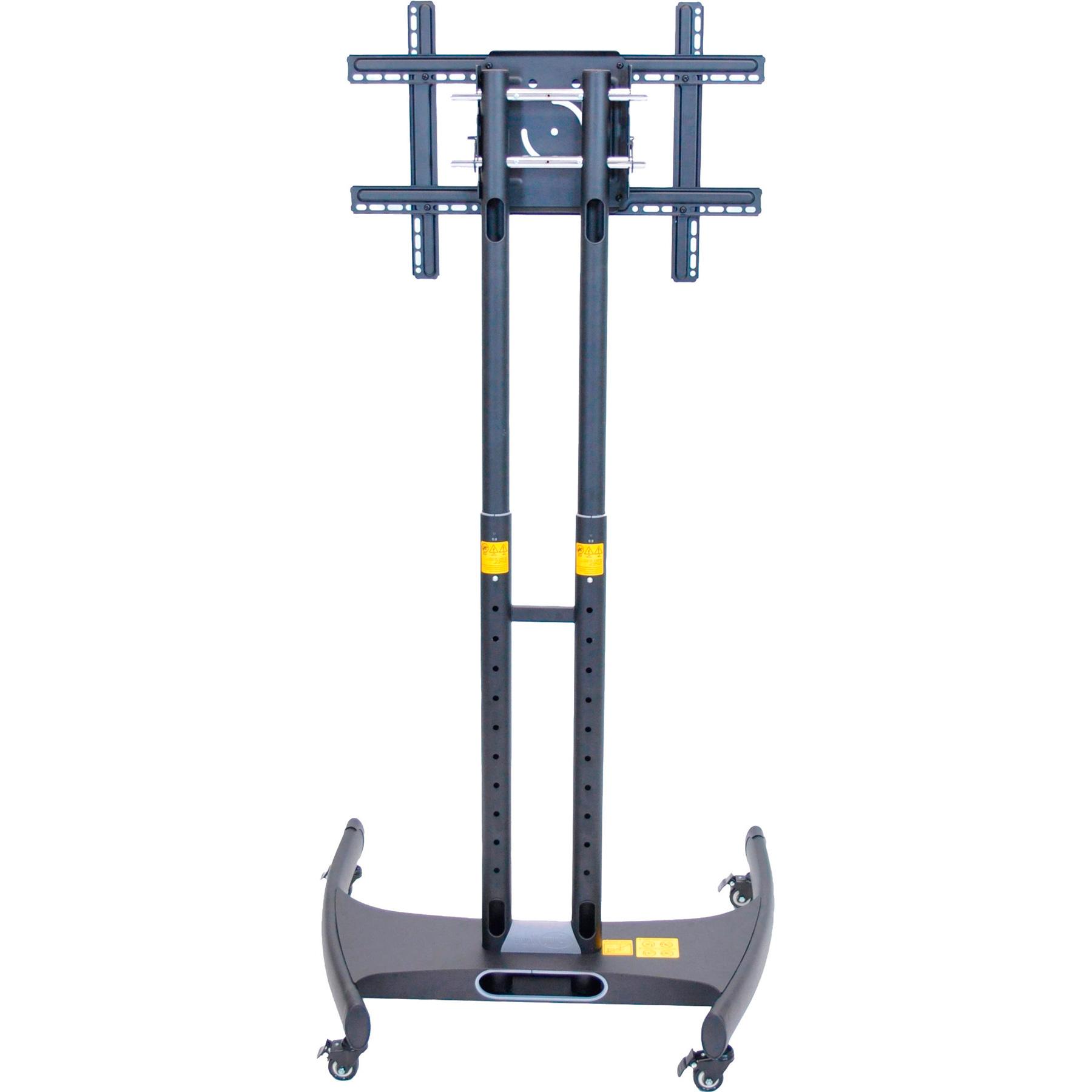 Luxor Fp2000 Adjustable Height Tv Stand Regarding Mount Factory Rolling Tv Stands (View 18 of 20)