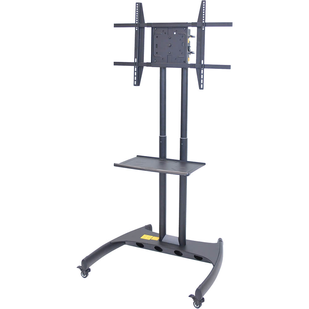 Luxor Height Adjustable Rolling Tv Stand With Horizontal Regarding Easyfashion Adjustable Rolling Tv Stands For Flat Panel Tvs (View 8 of 20)
