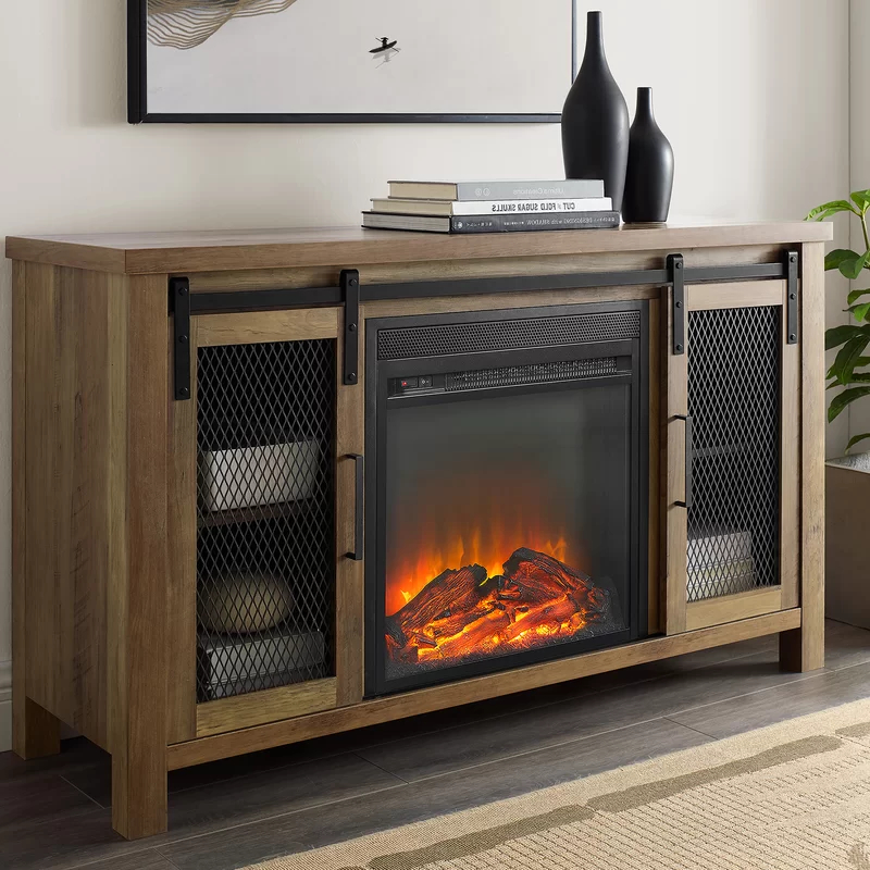 """Mahan Tv Stand For Tvs Up To 55 Inches With Fireplace Pertaining To Neilsen Tv Stands For Tvs Up To 50"""" With Fireplace Included (View 10 of 20)"""