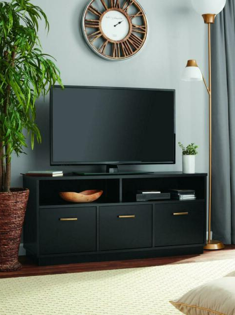 Mainstays 3 Door Tv Stand Console For Tvs Up To 50 With Regard To Mainstays Parsons Tv Stands With Multiple Finishes (View 8 of 20)