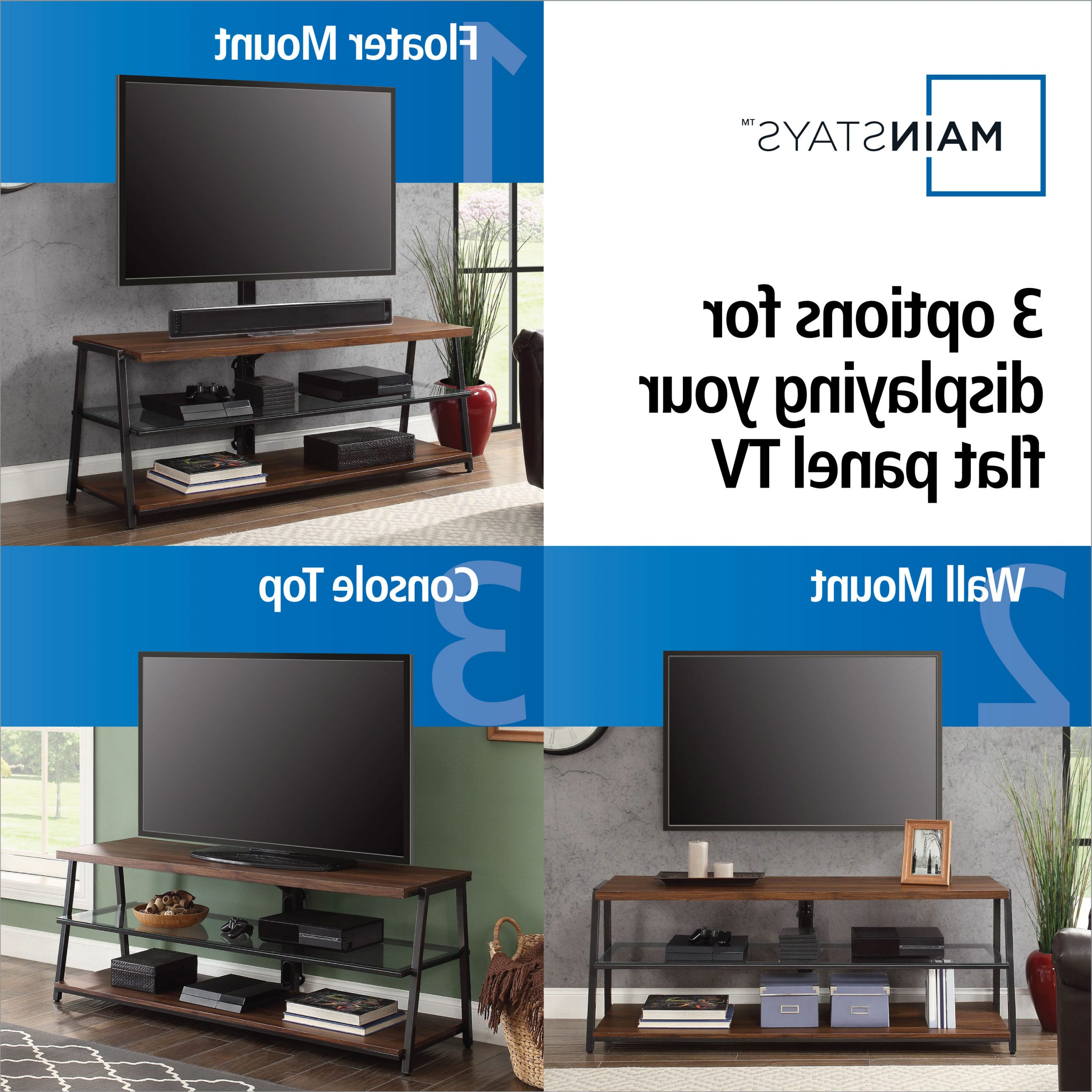 Mainstays Arris 3 In 1 Tv Stand For Televisions Up To 70 Within Mainstays Tv Stands For Tvs With Multiple Colors (View 16 of 20)