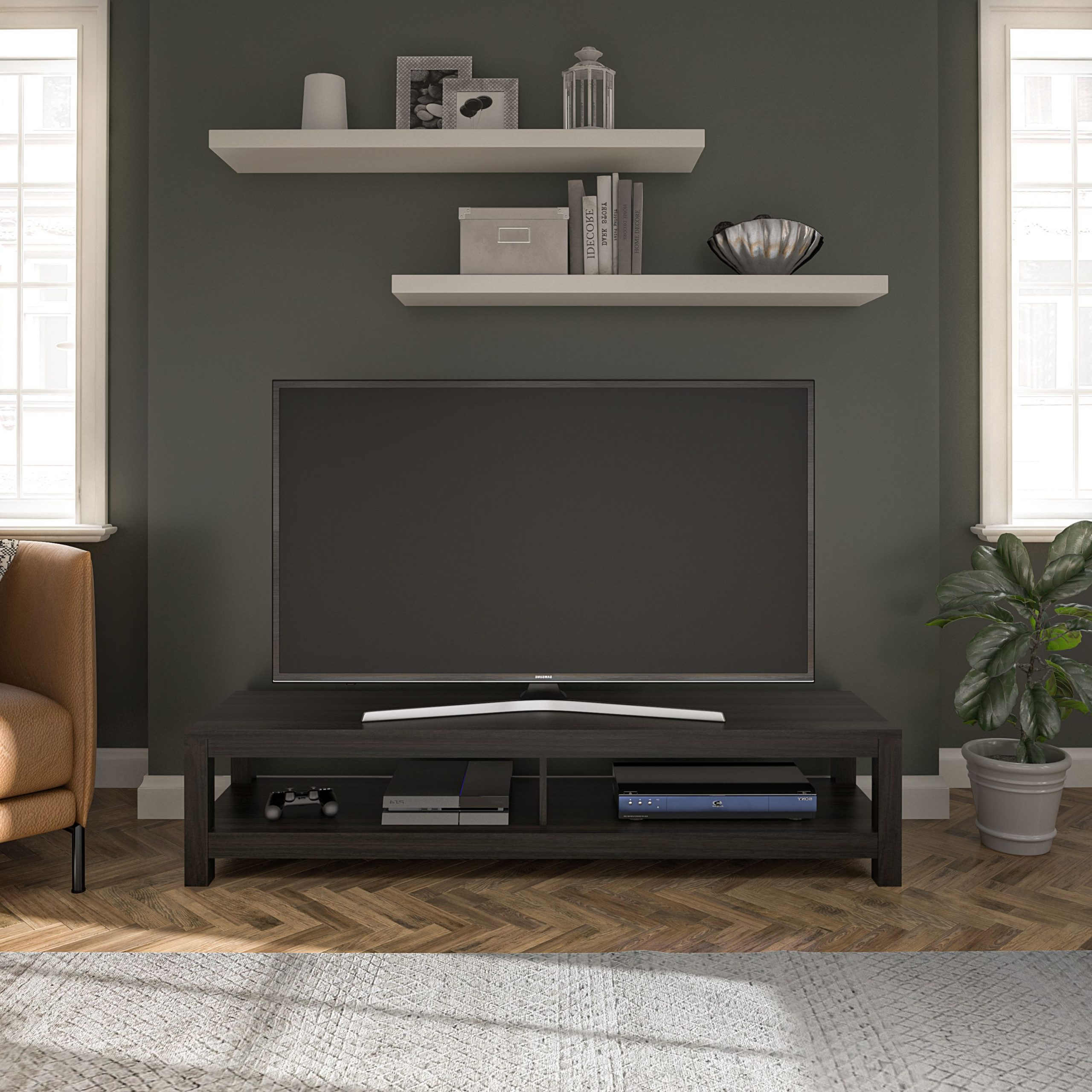 """Mainstays Easy Assembly Tv Stand For Tv's Up To 65 Intended For Calea Tv Stands For Tvs Up To 65"""" (View 2 of 20)"""