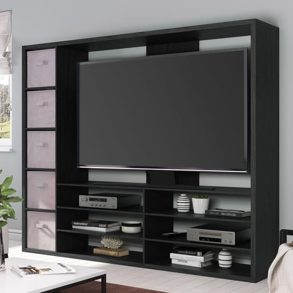Mainstays Entertainment Center For Tvs Up To 55″, Ideal Tv Pertaining To Mainstays Parsons Tv Stands With Multiple Finishes (View 6 of 20)