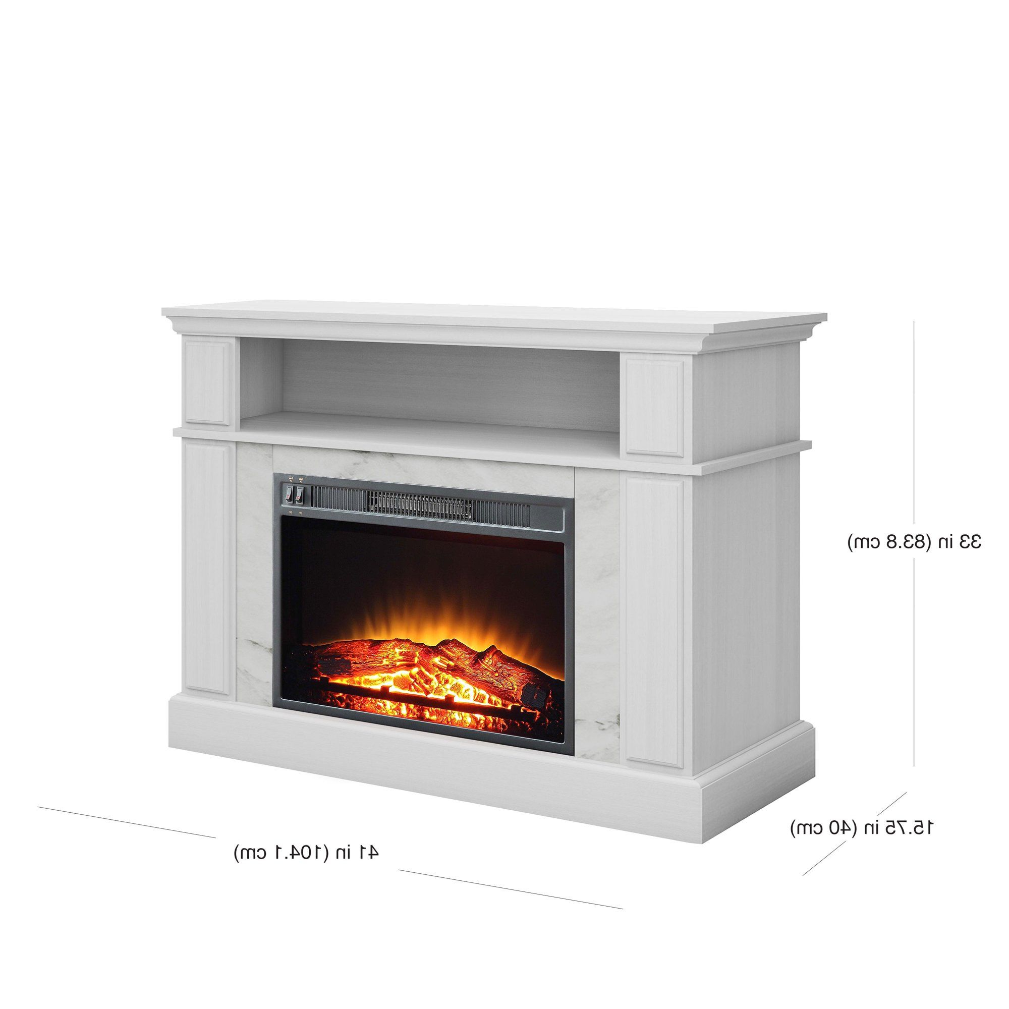 """Mainstays Loring Media Fireplace For Tvs Up To 48"""" And In Mainstays Parsons Tv Stands With Multiple Finishes (View 13 of 20)"""
