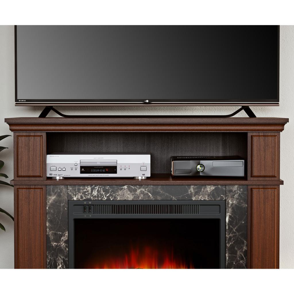Mainstays Loring Media Fireplace For Tvs Up To 48″ And With Mainstays Parsons Tv Stands With Multiple Finishes (View 18 of 20)