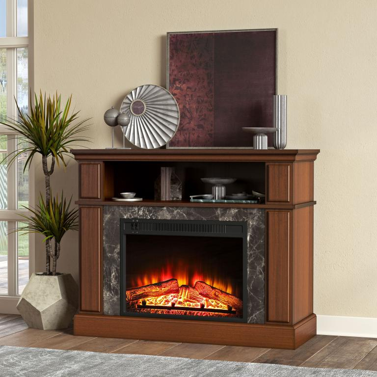 Mainstays Loring Media Fireplace For Tvs Up To 48″ And With Regard To Mainstays Parsons Tv Stands With Multiple Finishes (View 15 of 20)