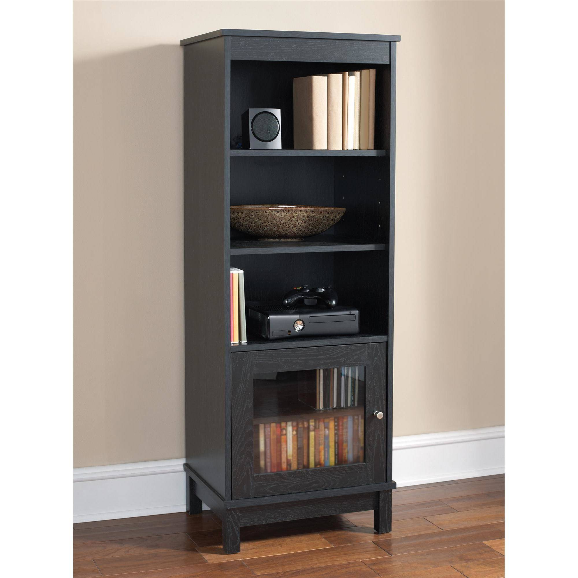 Mainstays Media Storage Bookcase, Multiple Finishes Intended For Mainstays Tv Stands For Tvs With Multiple Colors (View 17 of 20)