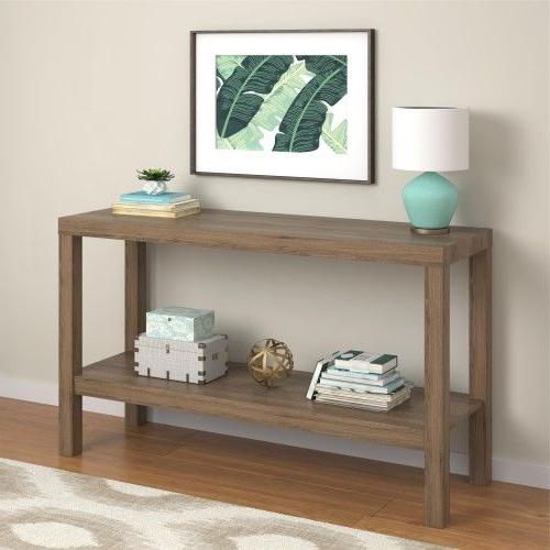 Mainstays Parsons Console Table, Rustic Oak In 2020 Intended For Mainstays Parsons Tv Stands With Multiple Finishes (View 14 of 20)