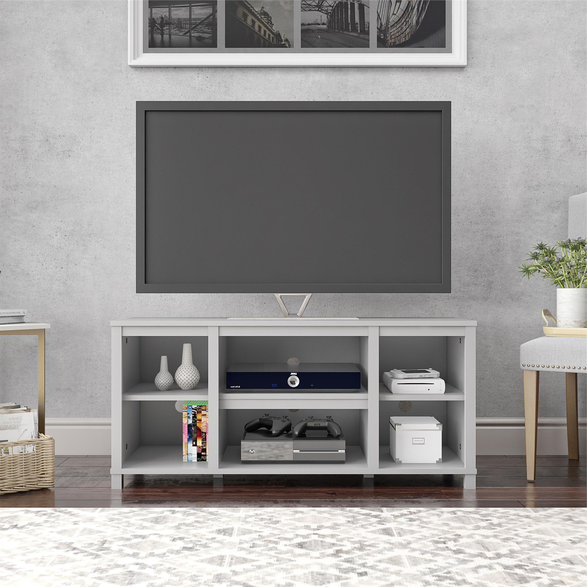 """Mainstays Parsons Cubby Tv Stand For Tvs Up To 50"""", Dove Throughout Penelope Dove Grey Tv Stands (View 4 of 20)"""