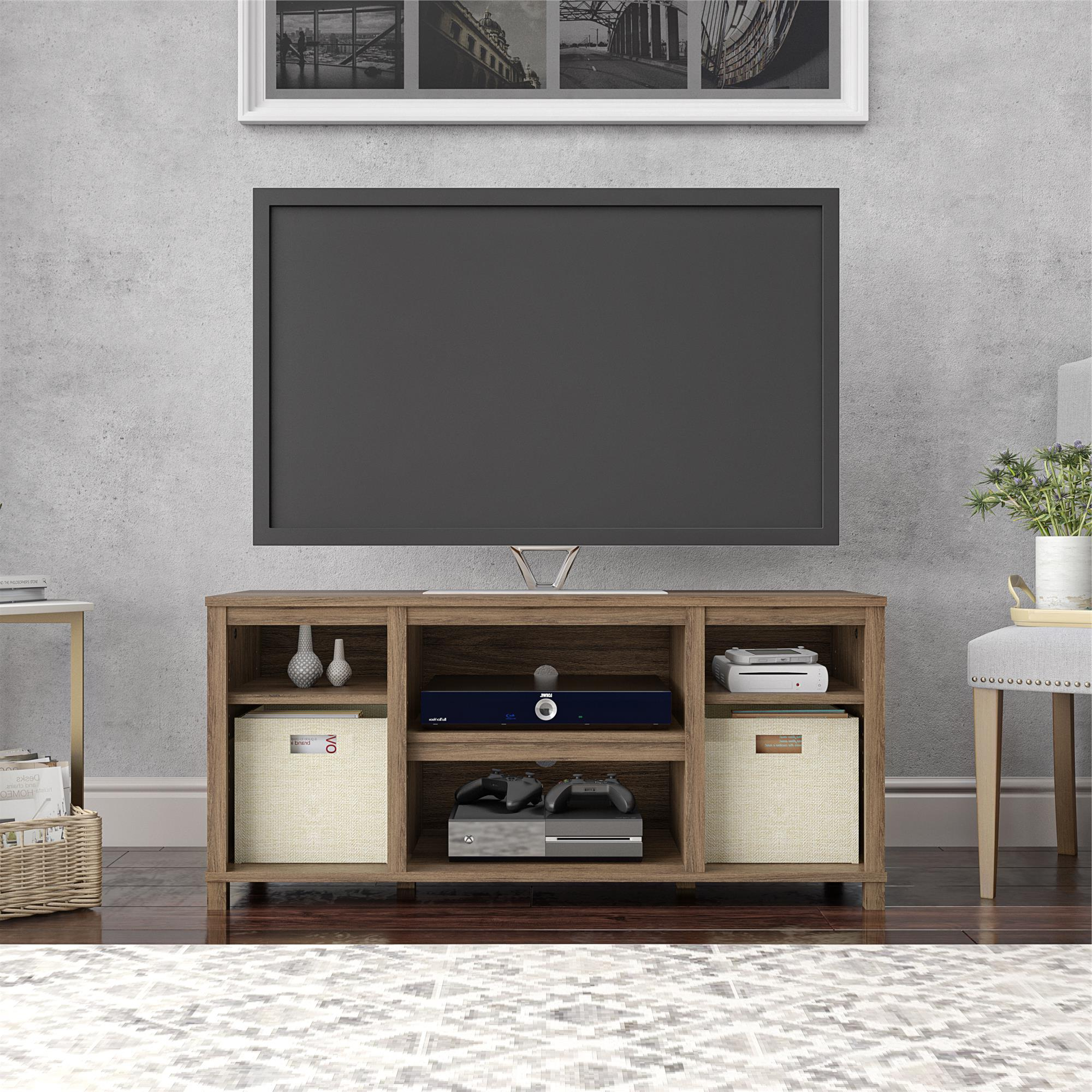 """Mainstays Parsons Cubby Tv Stand For Tvs Up To 50"""", Rustic Within Allegra Tv Stands For Tvs Up To 50"""" (View 5 of 20)"""