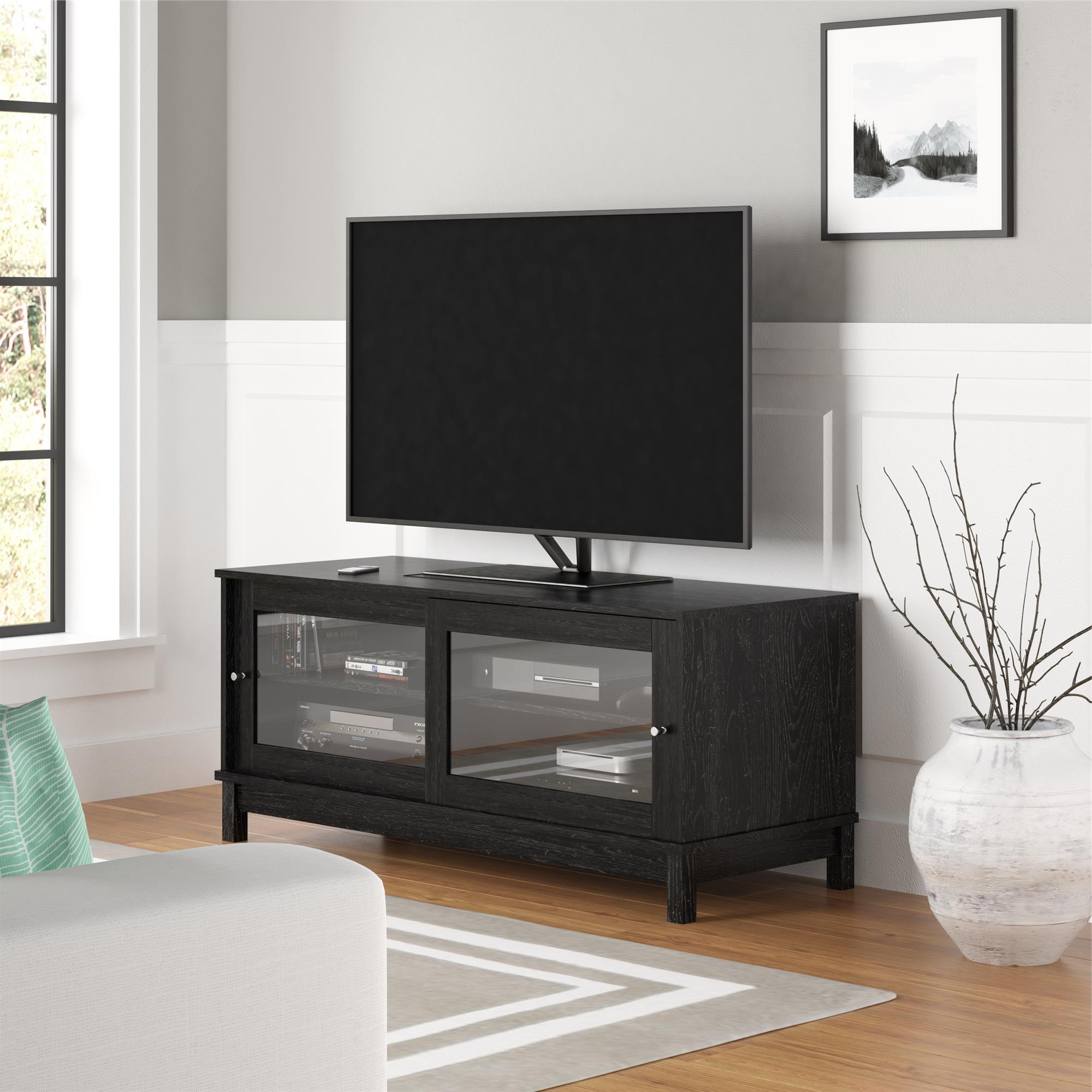 """Mainstays Tv Stand For Tvs Up To 55"""", Multiple Finishes Inside Twila Tv Stands For Tvs Up To 55"""" (View 3 of 20)"""