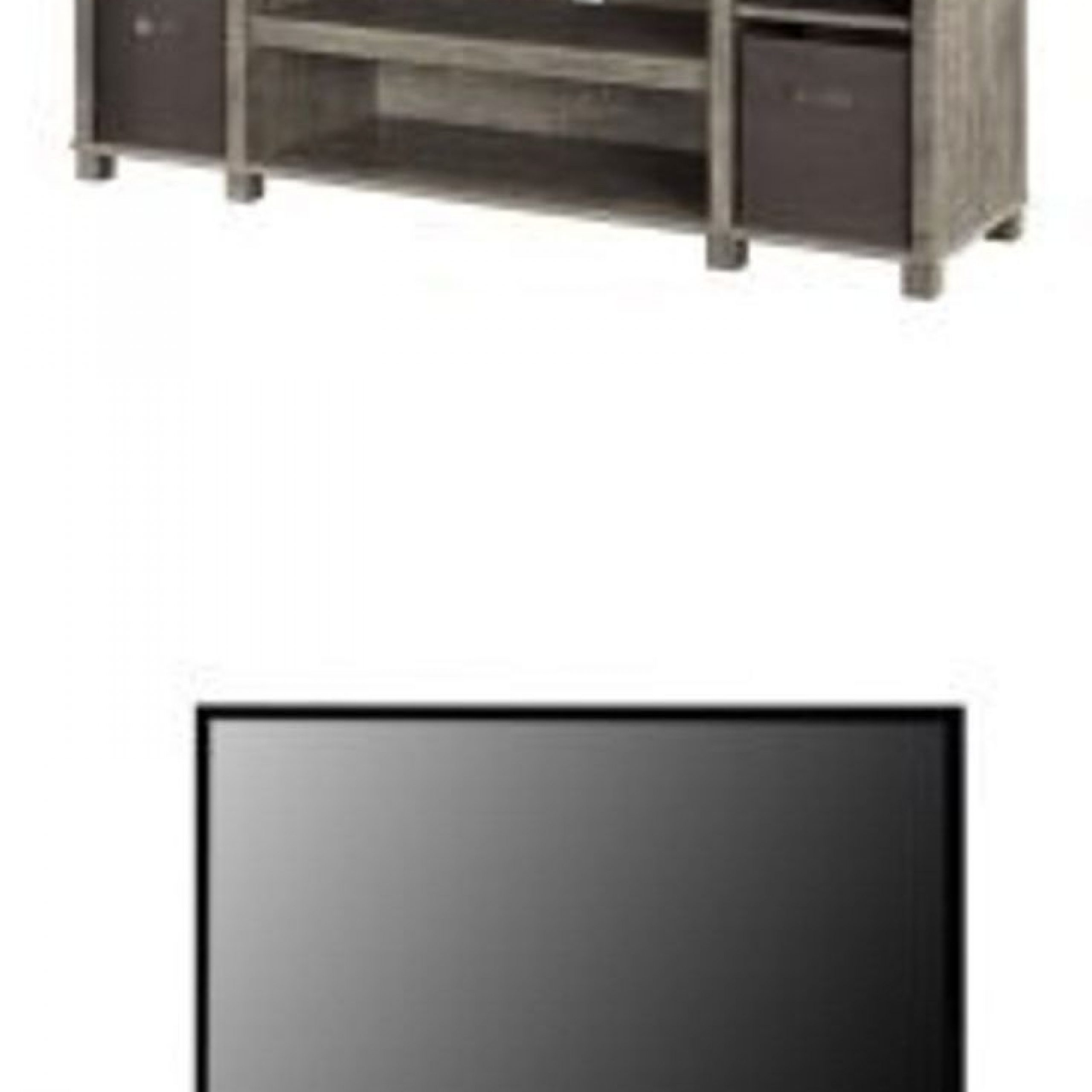 """Mainstays Tv Stand With Bins For Tvs Up To 65"""", Gray (View 12 of 20)"""