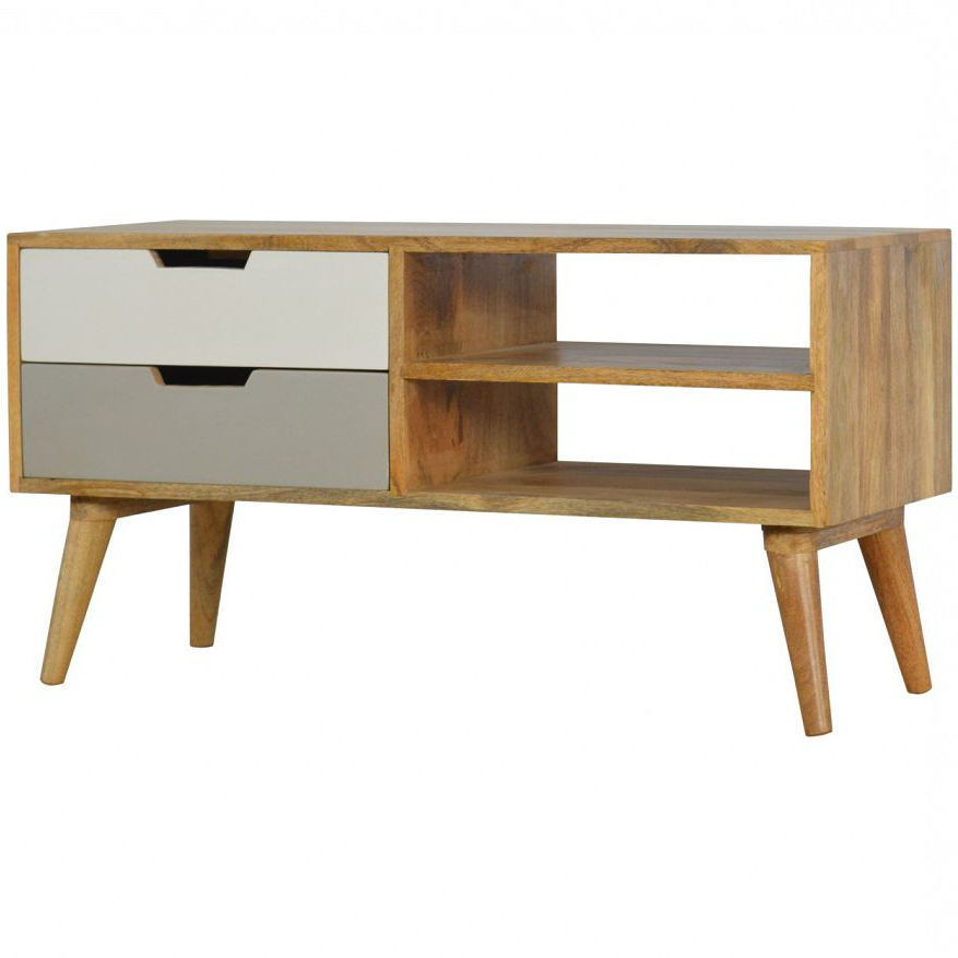 Mango Hill Media Unit With 2 Drawers   Wood Entertainment Regarding Manhattan 2 Drawer Media Tv Stands (View 11 of 20)