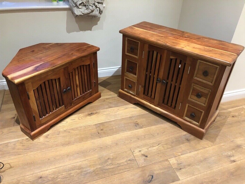 Mango Wood Tv Unit And Sideboard   In Stockton On Tees Intended For Bromley Grey Corner Tv Stands (View 12 of 20)